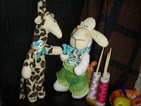 Отдается в дар Тильда овечка и тильда жираф