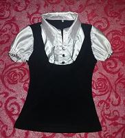 Отдается в дар Чёрно-белая блузка