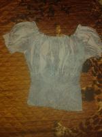 Отдается в дар Голубая летняя блузка 42-44р-р