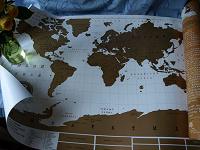 Отдается в дар Карта мира — скретч, для путешественников