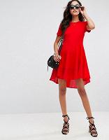 Отдается в дар Красное платье с удлиненной спинкой South размер 10 UK