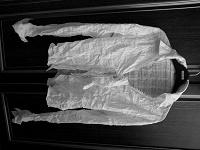 Отдается в дар Блузка (рубашка) белая, хлопок