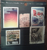 Отдается в дар Почтовые марки. Солянка.