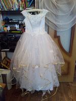 Отдается в дар Свадебное платье р. 46-48