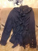 Отдается в дар Стильная темно-синяя рубашка