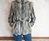 Отдается в дар Куртка с мехом