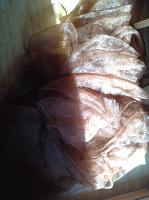 Отдается в дар Занавески (органза) коричневые 2 шт.