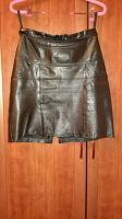 Отдается в дар Кожаная юбка черная короткая