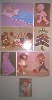 Отдается в дар открытки и календарик советские с куклами