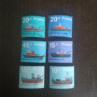 Отдается в дар Марки Польши — Пожарные лодки
