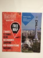 Отдается в дар Карта Барселоны и буклет Парк Гуэль