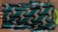 Отдается в дар Новая чёрно-зелёная блузка-стрейч, рос. размер 46-48