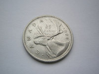 Отдается в дар Монета 25 центов Канада
