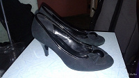 Отдается в дар Туфли черные замшевые. 35 размер