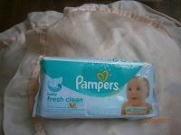 Отдается в дар Влажные салфетки «Памперс» полная упаковка.