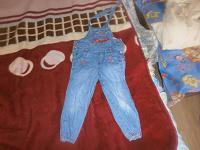 Отдается в дар джинсы и комбинезон джинсовый для девочки