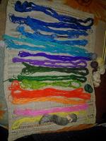 Отдается в дар нитки для вышивки, типа мулине