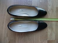 Отдается в дар Туфли женские, чёрные, натуральная кожа, размер 37,5.