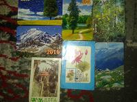 Отдается в дар Разные календарики