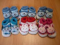 Отдается в дар Вязаные ботиночки для новорождённого