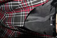 Отдается в дар Платье черное-красное в клетку