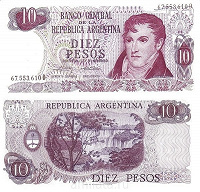 Отдается в дар Банкнота Аргентины