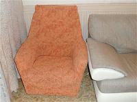 Отдается в дар 2 качественных еврочехла на кресла, рыженькие :)