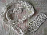 Отдается в дар кружево белое вязанное крючком