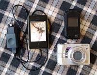 Отдается в дар телефоны и фотоаппарат условно рабочие