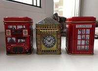 Отдается в дар Жестяные баночки для чая в лондонском стиле