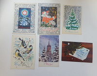 Отдается в дар Новогодние открытки 70-х