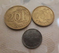 Отдается в дар Монетки Финляндии