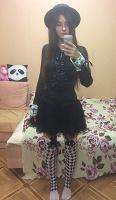 Отдается в дар Черная готическая блуза
