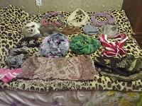 Отдается в дар Косынки, перчатки, берет норковый, шапка зимняя из песца, платки, палантины, зимние шарфы, легкие шарфики, шапки