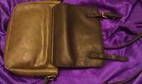 Отдается в дар Кожаная сумочка (натуральная кожа): на хендмейд или починку