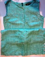 Отдается в дар Платье льняное цвета морской волны.
