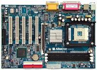 Отдается в дар Материнская плата Albatron + процессор