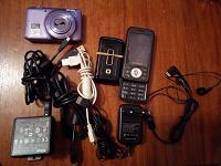Отдается в дар Телефоны, фотик, кабели