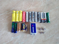 Отдается в дар Батарейки разные, много