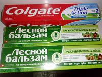 Отдается в дар Три зубные пасты с коротким сроком годности