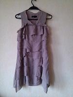 Отдается в дар Шелковое платье с воланами Vera Moda