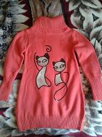 Отдается в дар Вязаное платье-туника на на 6 лет