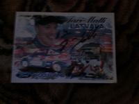 Отдается в дар открытка с автографом гонщика из команды FORD
