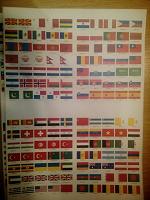 Отдается в дар Флаги на клейкой бумаге 2.5*1.5