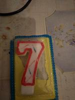 Отдается в дар Свеча для торта