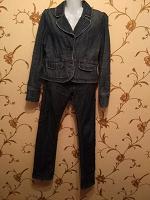 Отдается в дар Джинсовый пиджак, джинсы 48 размера