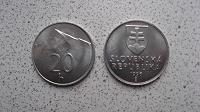 Отдается в дар Монета 20 геллеров Словакия. Гора