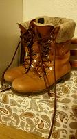 Отдается в дар Зимние полусапожки ботинки