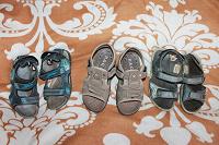 Отдается в дар сандали 20-22.5 см по стельке, 3 пары.