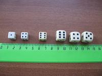 Отдается в дар Зары, кубики для настольных игр.